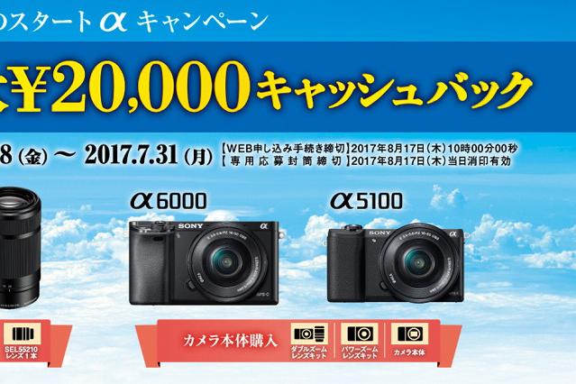 【最大2万円キャッシュバック】夏のスタートαキャンペーンがスタート!7/31迄!