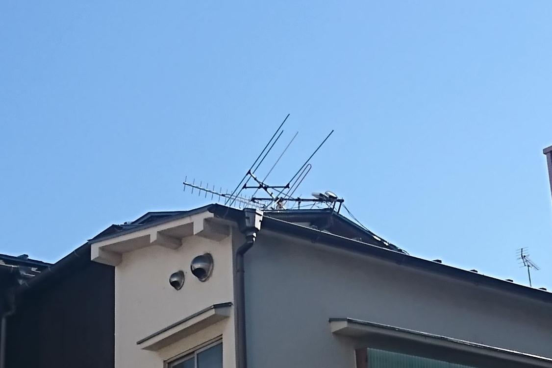 台風の爪痕、今になって気づくお客様も・・・ご自宅のアンテナ問題ありませんか?