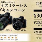 αフルサイズミラーレス スプリングキャンペーン 「最大30,000円キャッシュバック!」